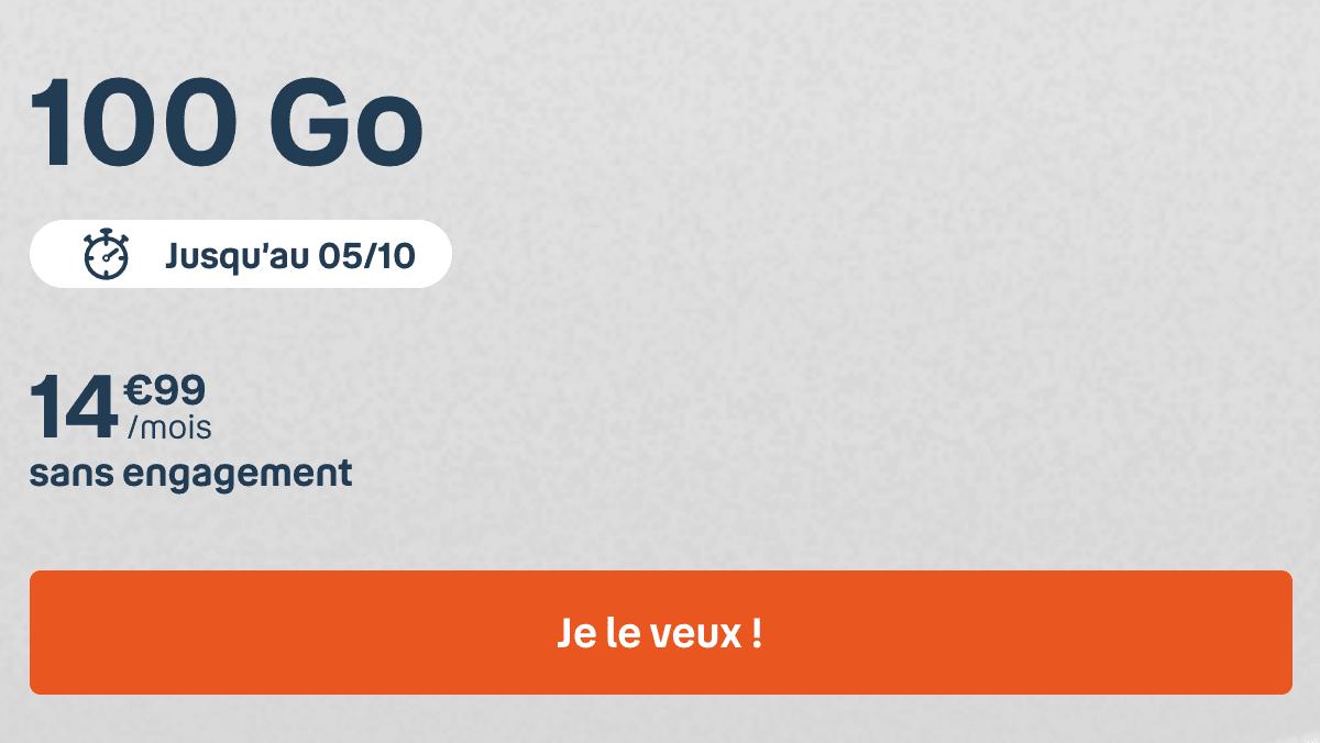 le forfait 100 Go à moins de 20€ : le bon plan d'octobre chez B&YOU