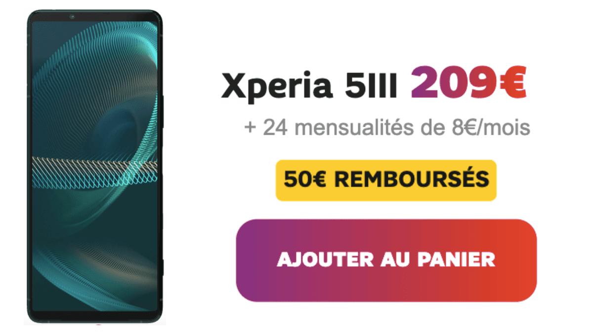 SFR Sony Xperia 5 avec forfait